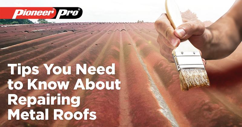 tips for repairing metal roof